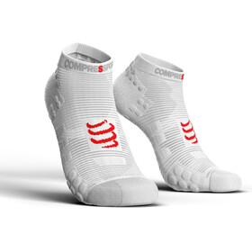 Compressport Pro Racing V3.0 Run Low - Calcetines Running - blanco